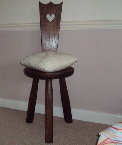 Cast On and Cast Off: New Drum Carder and Old Spinning Chair