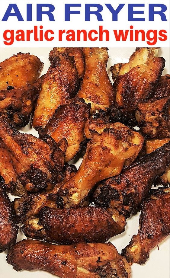 Air Fryer Garlic Ranch Wings