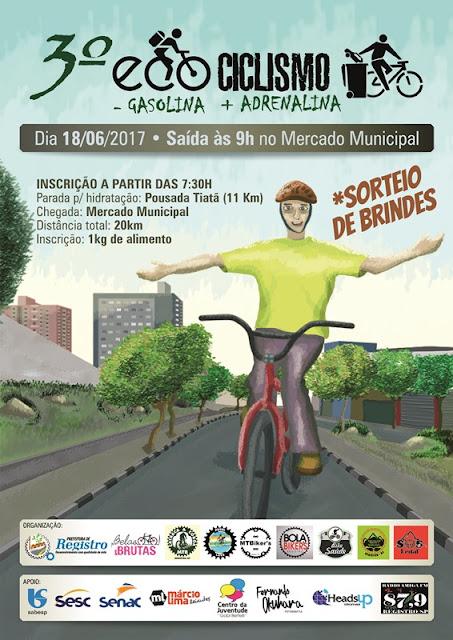 Registro-SP irá comemorar Dia do Meio Ambiente com 3º Passeio Ecociclismo