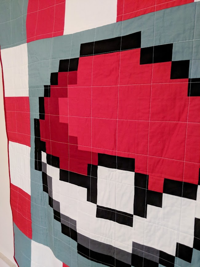 Pokemon pokeball quilt