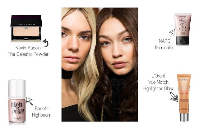 Glowing skin, A/W 16 Trends, Kevin Aucoin, Benefit Highbeam, Nars, L'oreal