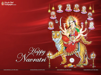 Happy Navratri Wallpaper in Hindi