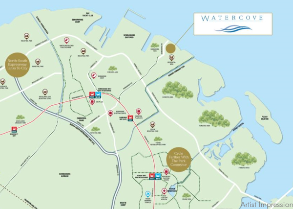 Watercove Location Map