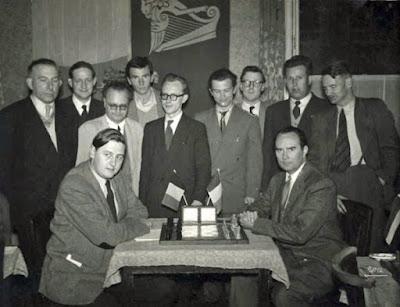 Ajedrecistas participantes en el Torneo Internacional de Dublín 1956