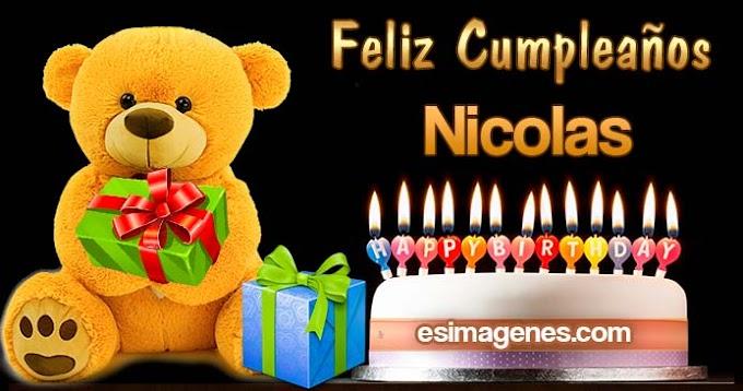 Feliz Cumpleaños Nicolas