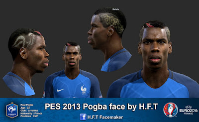 PES 2013 Pogba face by H.F.T