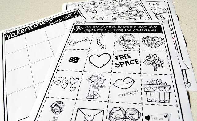 https://www.teacherspayteachers.com/Product/Valentines-Day-Activity-Pack-3597748