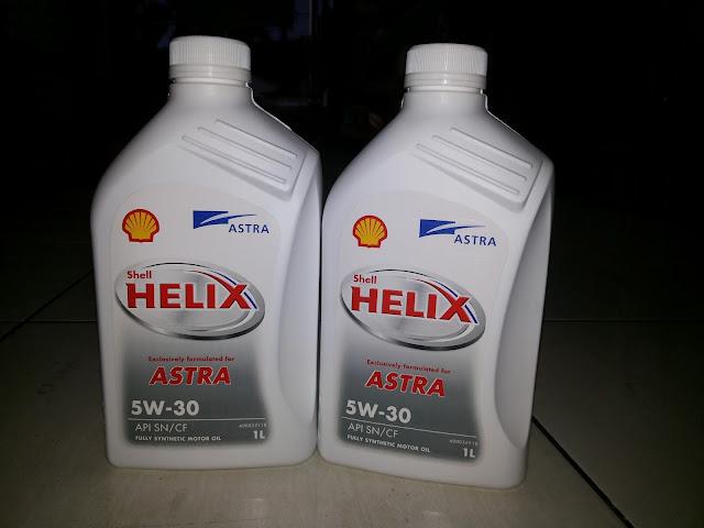 Harga oli Motul H-TECH 100 Plus, Shell Helix Astra 5w30, dan Castrol MagnetecProfesional