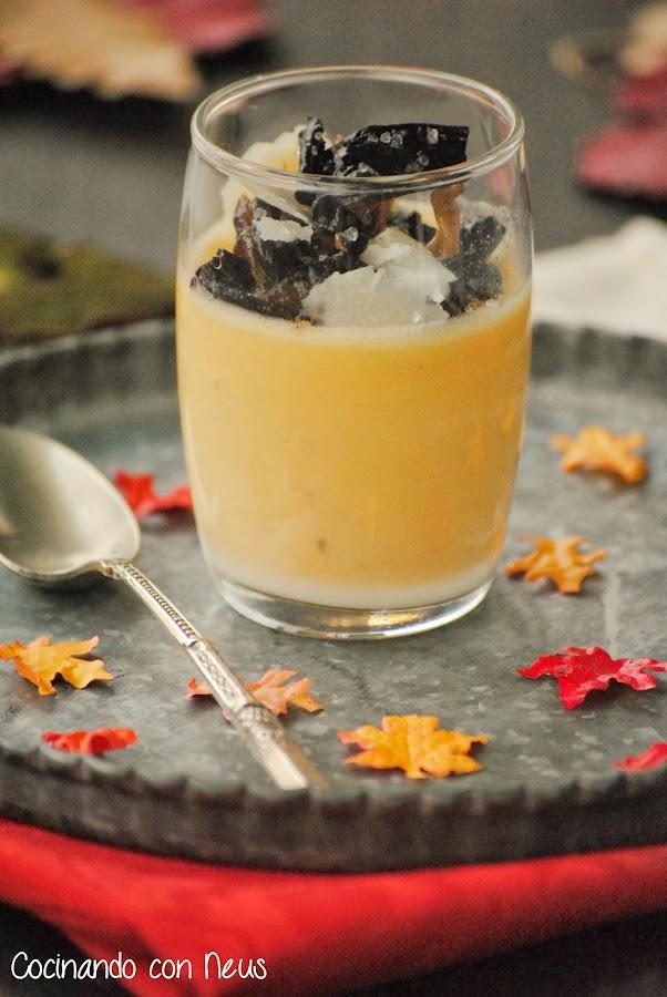 Pannacotta de boniato con setas al Pedro Ximénez-cocinando-con-neus