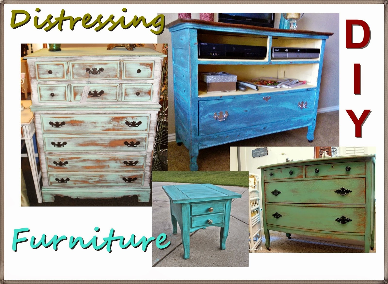 meg made creations how to make wood furniture look old antique distressed with paint. Black Bedroom Furniture Sets. Home Design Ideas
