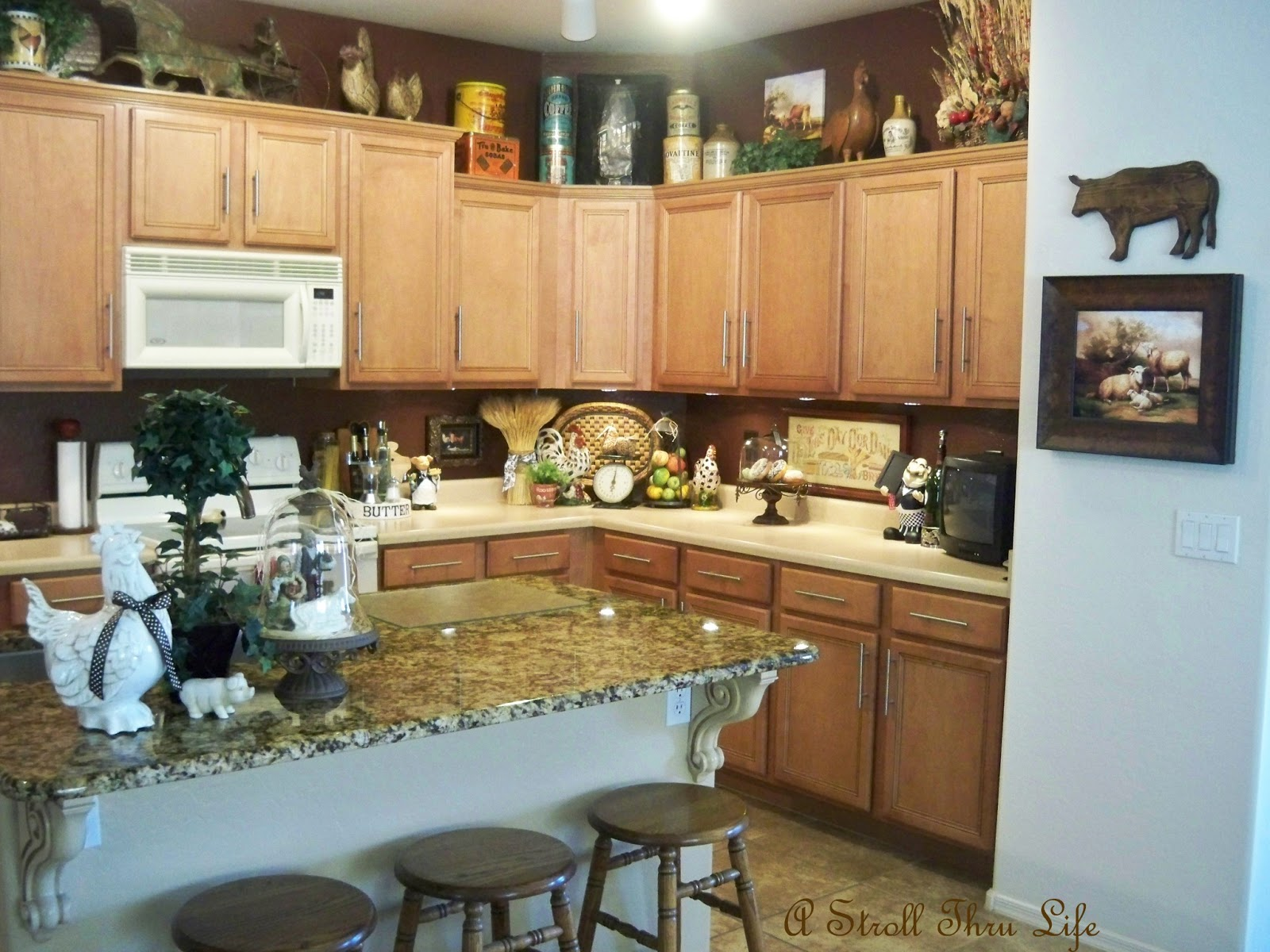 Kitchen Decorations For Countertops A Stroll Thru Life Kitchen Decor