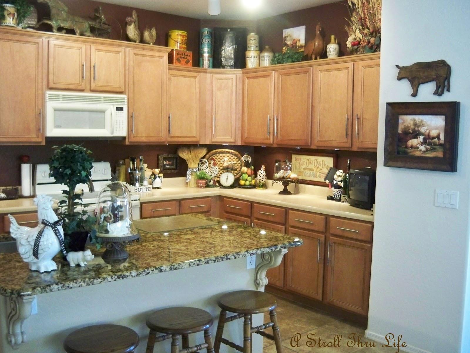 kitchen decor accessories in stock cabinets a stroll thru life