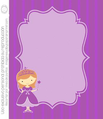 Invitaciones para imprimir de princesas