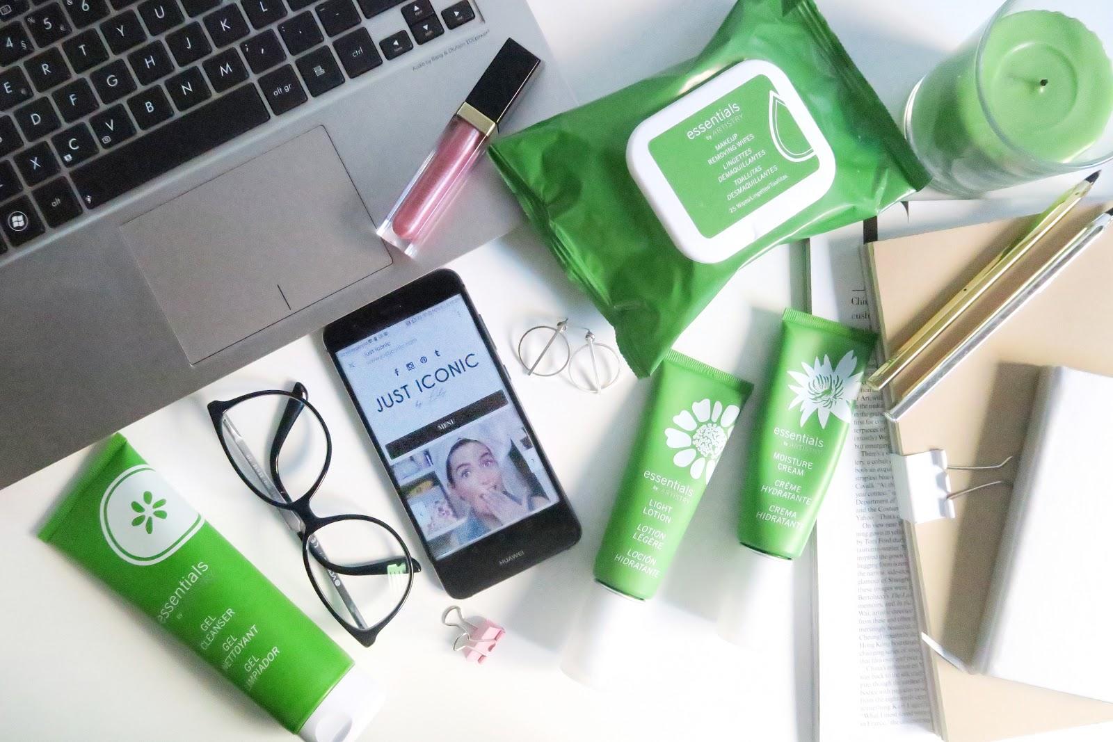 essentials, artistry, amway, skincare, pele oleosa, cuidados de rosto, rotina
