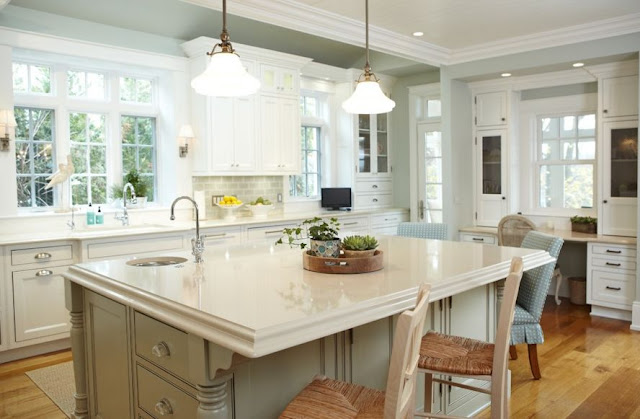 blue pearl granite with white cabinets