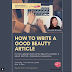 NGOPCAN5 : How To Write A Good Beauty Article