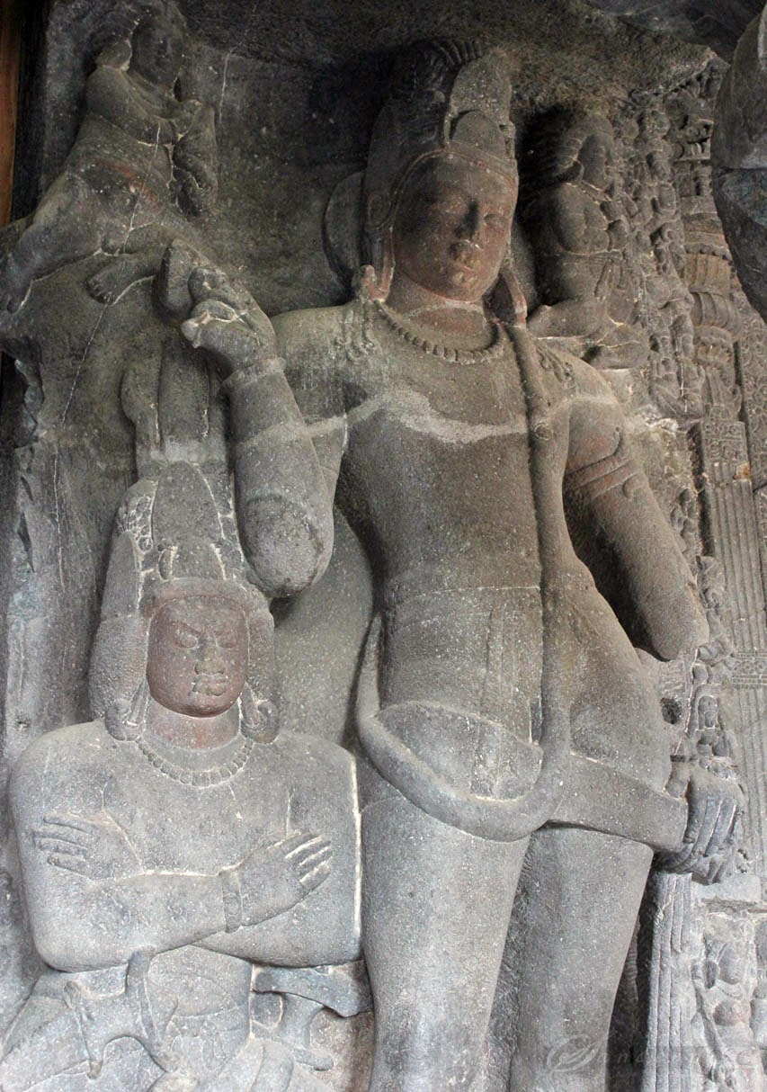 Dwarapalakas guarding at the Sanctum