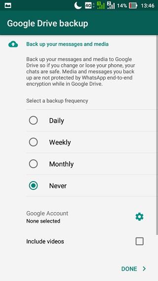 Hilangkan Notifikasi Backup WhatsApp