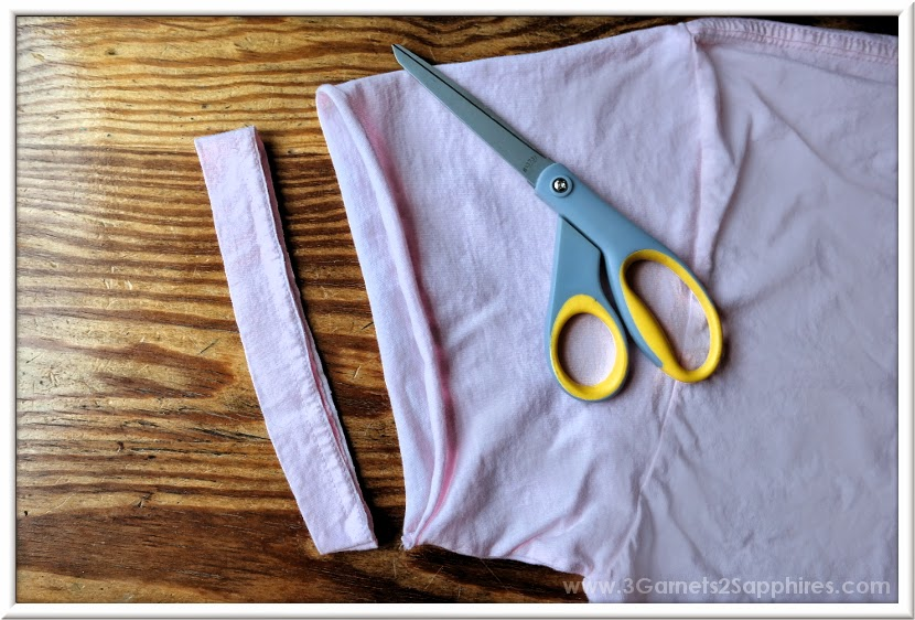 How-to Make Your Own No-Sew High-Low T-Shirt Craft - Step 3