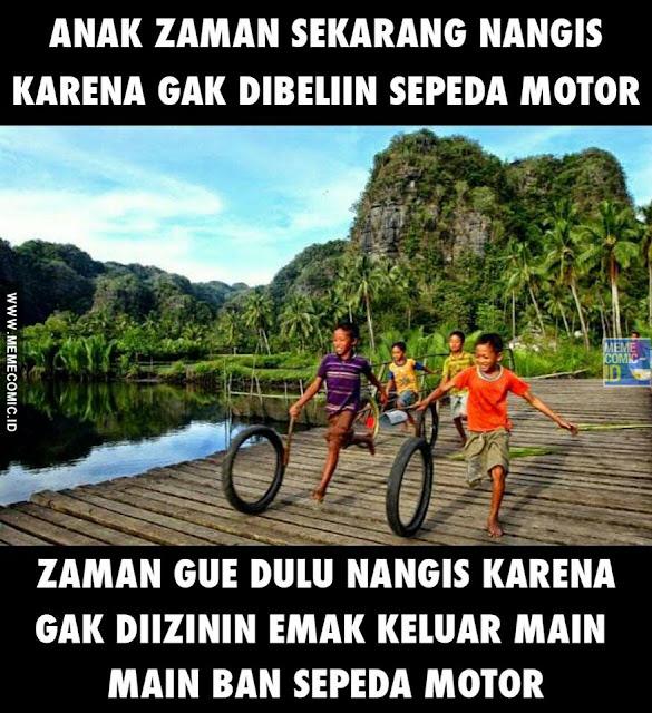 Meme Kids Jaman Now Ngambek minta di beliin sepeda motor
