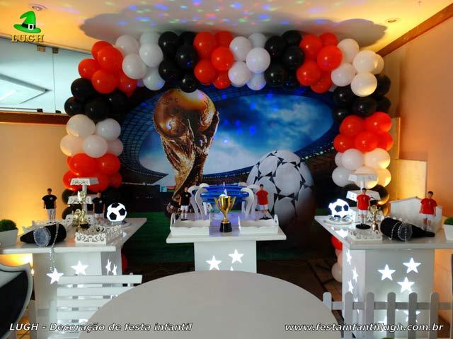 Decoração tema Futebol - mesa decorada de aniversário