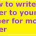 How to write a letter to your father for money order