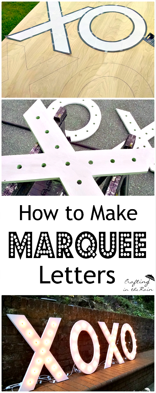 Large Marquee Letters for a Wedding | Crafting in the Rain