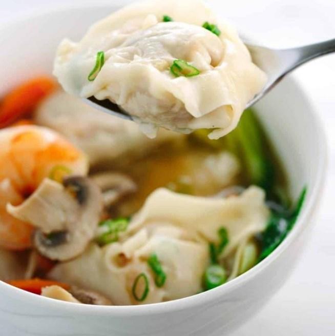 Homemade Wonton Soup #dinner #Soup
