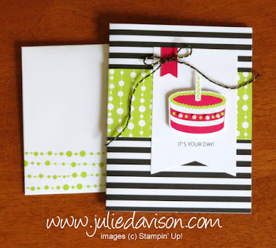 June 2018 Paper Pumpkin Broadway Star Birthday Card ~ www.juliedavison.com