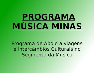 Programa de Apoio a viagens e Intercâmbios Culturais no Segmento da Música