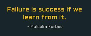 Fracasso é sucesso se aprendermos com ele