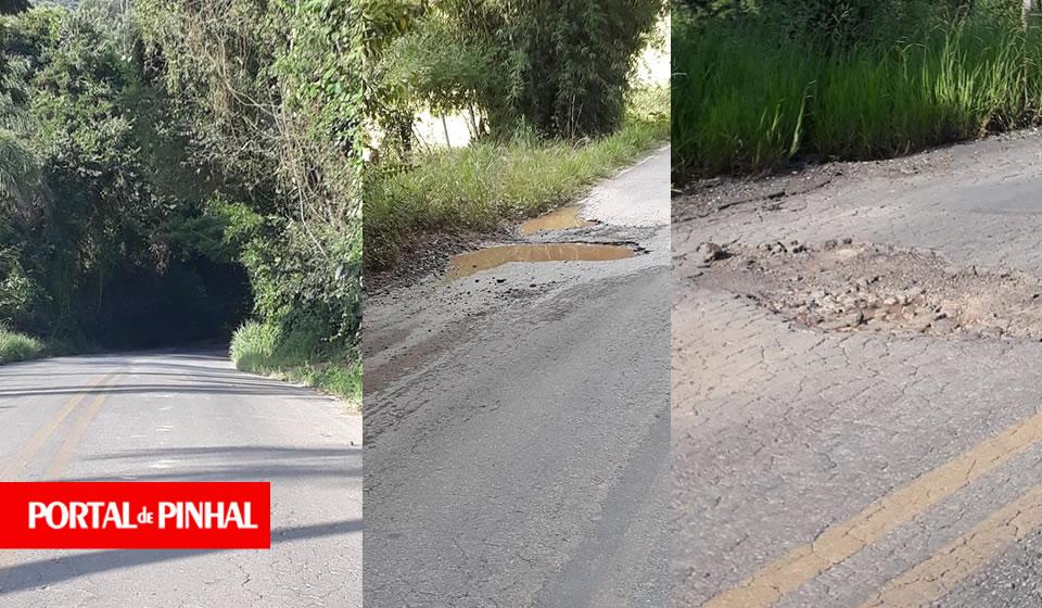 Moradores denunciam situação caótica na vicinal Espírito Santo do Pinhal a Albertina