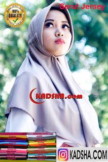 serut jersey jilbab instan