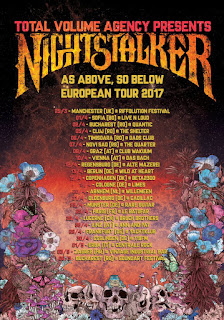 Nightstalker European tour 2017 poster