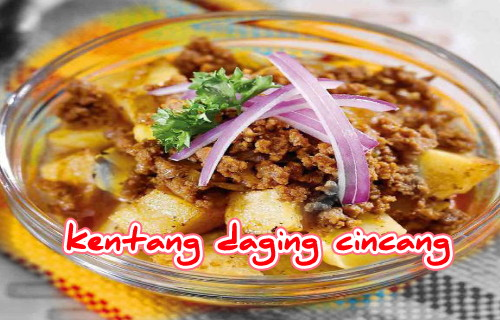 kentang daging cincang