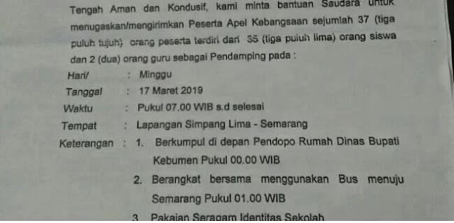Viral, Siswa Kebumen Dikirim ke Semarang untuk Ikuti Apel Merah Putih