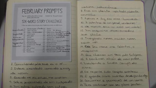 Desafio de Fevereiro: 6-word story challenge