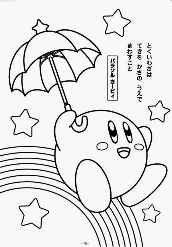 Coloring Pages For Kids Together Kirby Coloring Pages