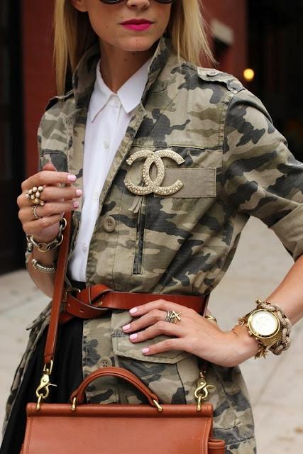 giacca stile militare tendenza stile militare autunno inverno 2016 2017 army style fashion moda fashion blogger italiane color block by felym mariafelicia magno blogger italiane di moda