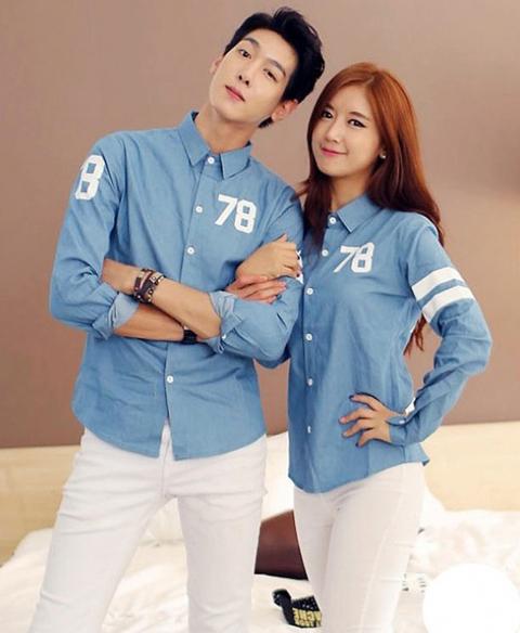 model baju hem couple