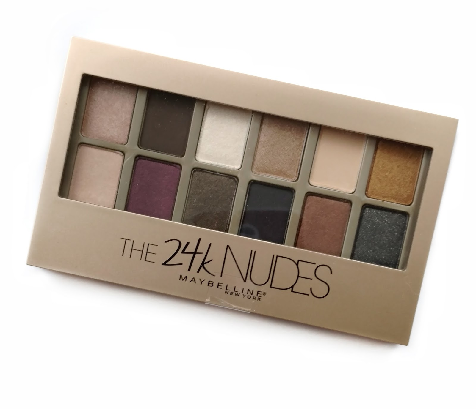maybelline the 24k nudes eyeshadow palette review