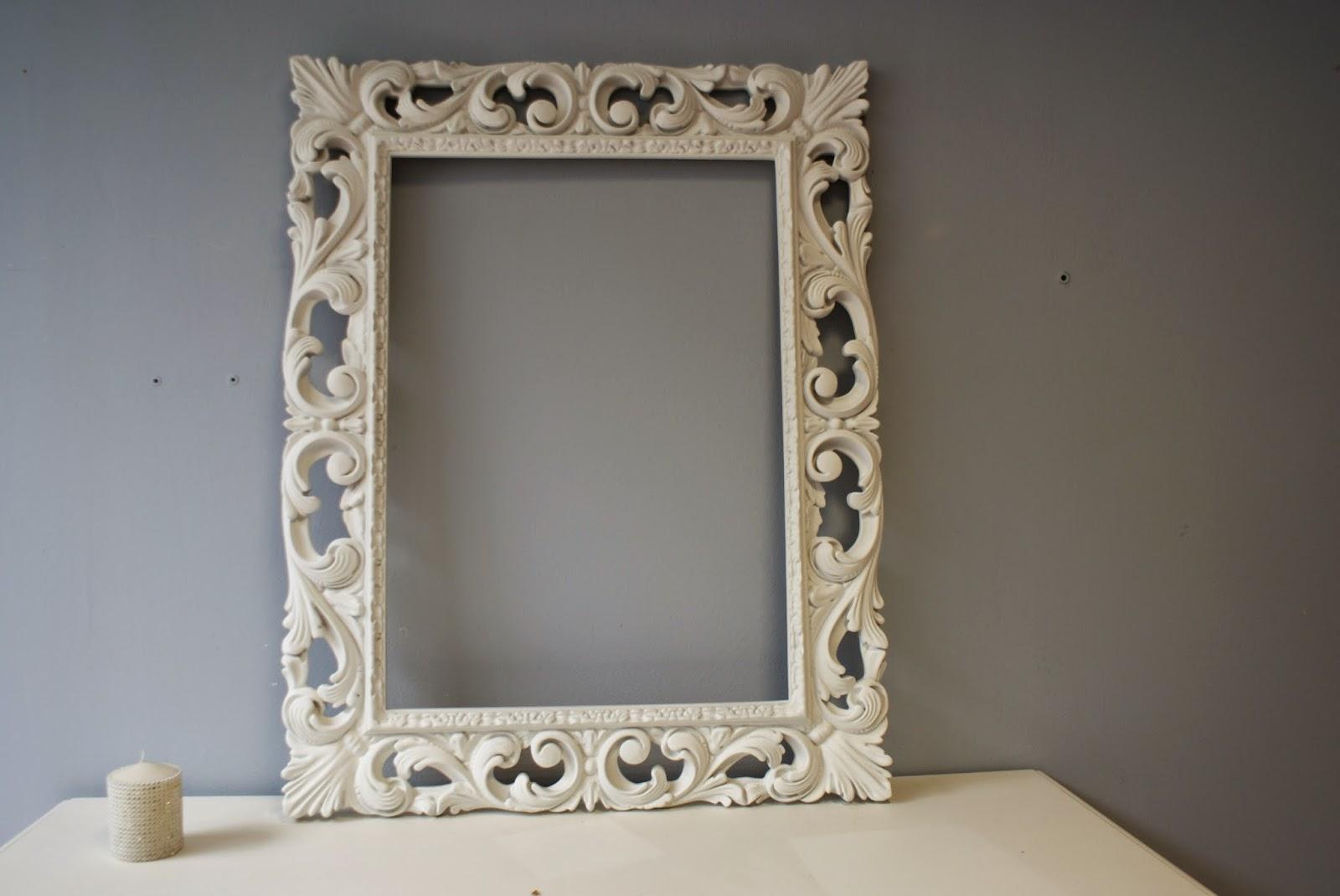 Specchiera in legno cornice barocca intagliata laccata - Specchio cornice bianca ...