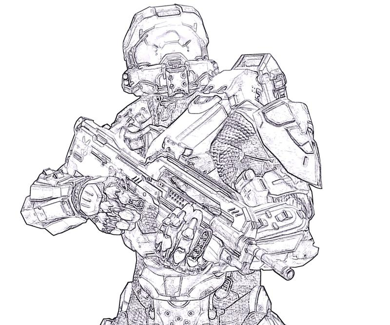 x box halo coloring pages - photo #43