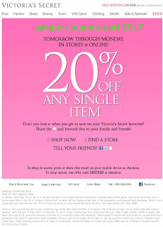 Victoria's Secret coupons april