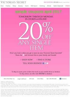 Victoria's Secret coupons april