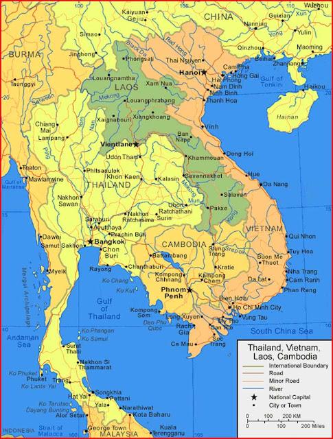 Gambar Peta Laos