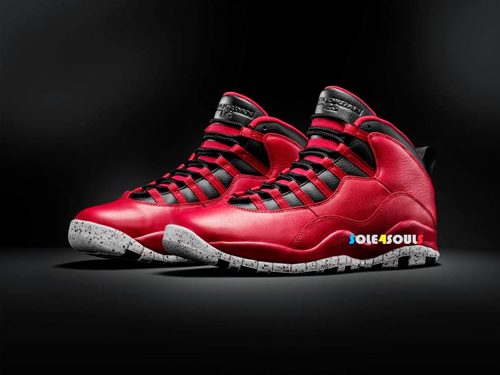 618039b23b1e89 Sole4Souls   Nike Air Jordan 10 Retro 30TH Bulls Over Broadway