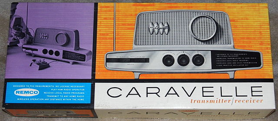 Vintage Caravelle Transmitter-Receiver By Remco, Style 120, Made In USA, Circa 1962
