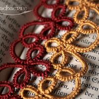 Occhi-Lesezeichen in rot-gold | www.zeitunschaerfe.de