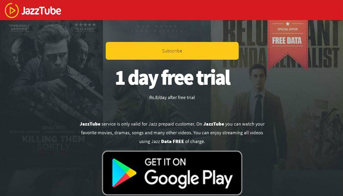 Watch Unlimited HD Movies with JazzTube for Just Rs. 8